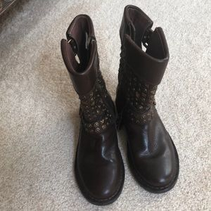 WORN ONE TIME!  UGG Moto Biker Conor Studs boots.